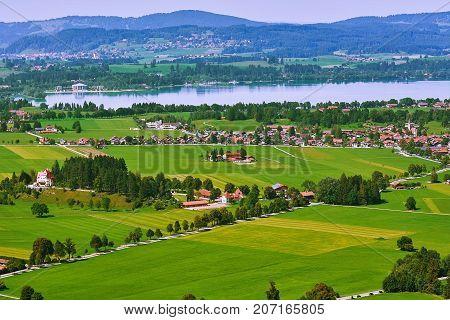 Aerial View Of Hohenschwangau