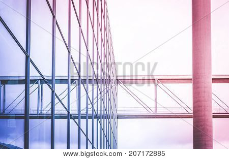 modern glass facade - office building exterior - abstract architecture