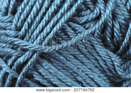 A super close up image of sapphire yarn poster