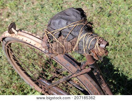 Ancient Saddle Of A Bike Last Century