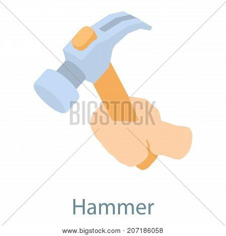 Hammer icon. Isometric illustration of hammer icon for web