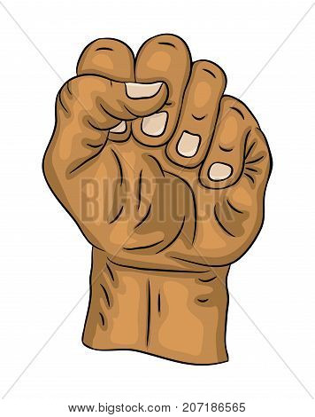 Clenched Fist  Vector Symbol Icon Design. Beautiful Illustration Isolated On White Background