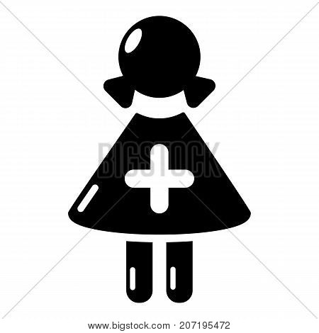 Nurse icon. Simple illustration of nurse vector icon for web
