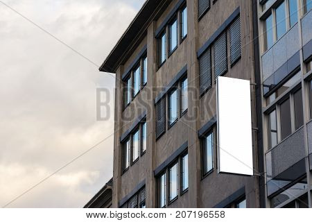 Office Business Building Blank Name SIgn Billboard Isolated White