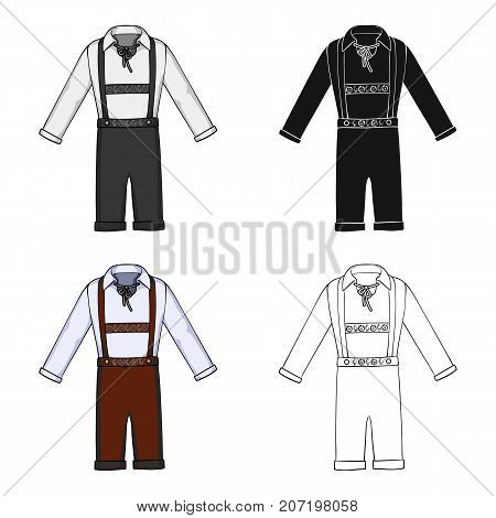 Suit single icon in cartoon style.Suit, vector symbol stock illustration .
