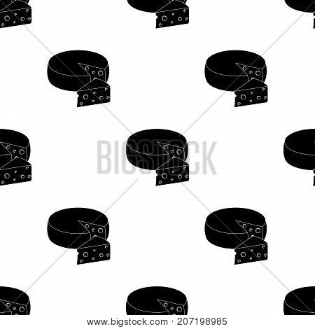 A real Belgian cheese. Belgium single icon in black style vector symbol stock web illustration.