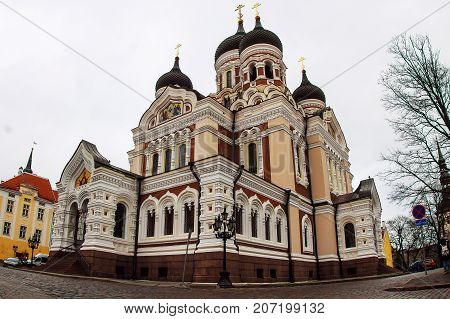 Alexander Nevsky Cathedral in Tallinn - Orthodox cathedral church in Estonia
