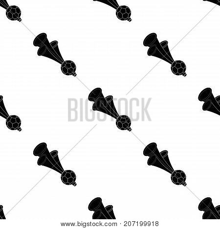 Trumpet football fan.Fans single icon in black  vector symbol stock illustration.