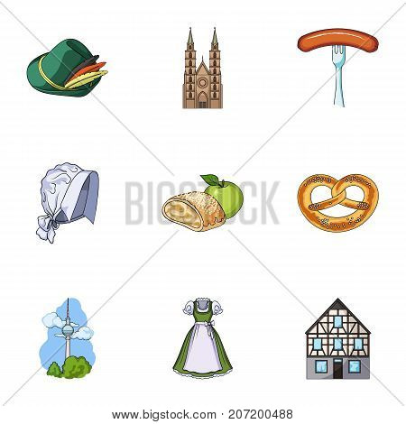Cooking, textiles, tourism and other  icon in cartoon style.Residential, national, attributes, icons in set collection