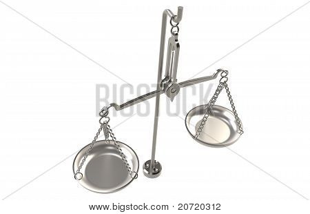 poster of Balance Scale. Isolated on white. Steel Edition