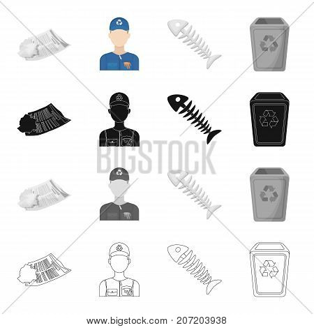 Dump, ecology, hygiene and other  icon in cartoon style.Food, chemical, garbage, icons in set collection