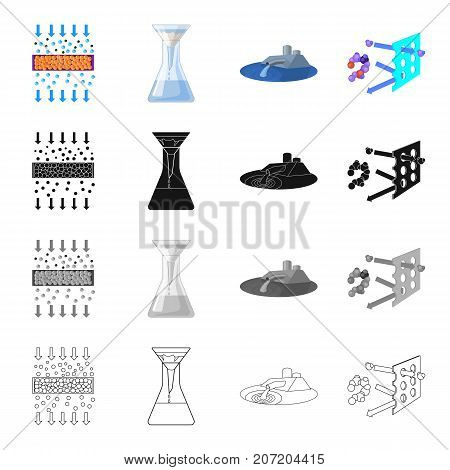 Filler, filter, system and other  icon in cartoon style.Tools, machinery, means, icons in set collection