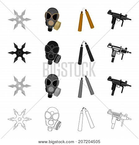 War, army, armament and other  icon in cartoon style.Shooting, port, weapons, icons in set collection