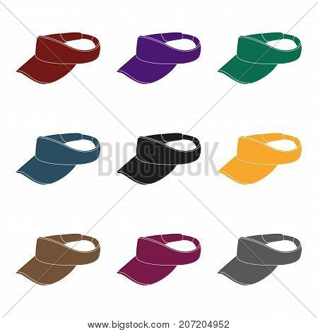 Golfer's headdrGolfer's headdressess.Golf club single icon in black style vector symbol stock illustration .