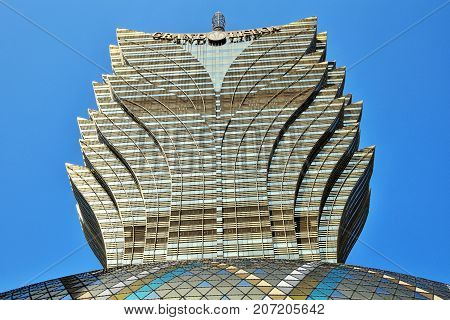 MACAO - CIRCA JANUARY 2017:Casino Lisboa, one of the oldest and most famous casinos in Macau.