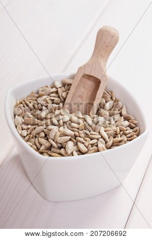 Heap Of Sunflower Seeds Containing Zinc And Dietary Fiber, Healthy Nutrition