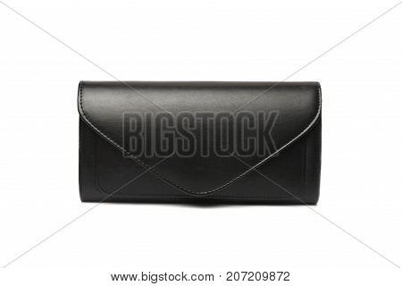 black woman fashion bag with white wallpaper