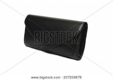 black fashion woman bags with white background