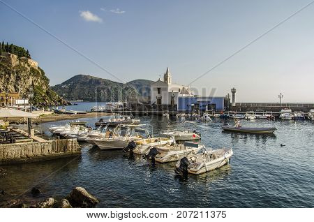 old fishing port today sporty and very crowded by divers. In the same port rent complete diving equipment.