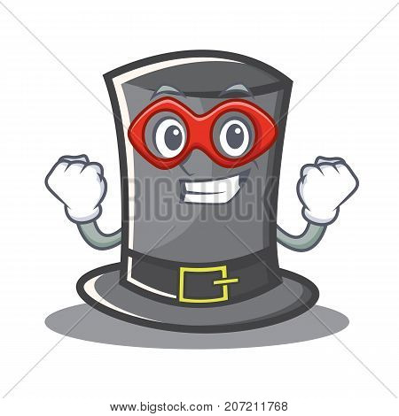 Super hero Thanksgiving hat character cartoon vector illustration