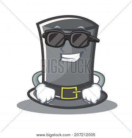 Super cool Thanksgiving hat character cartoon vector illustration