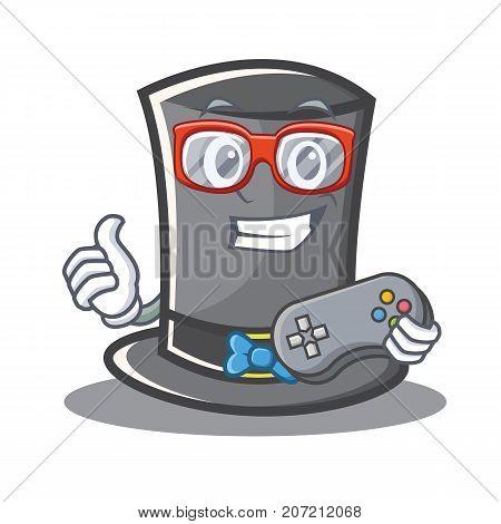 Gamer Thanksgiving hat character cartoon vector illustration