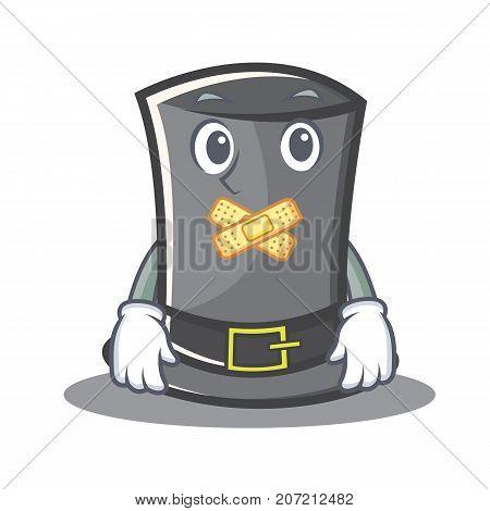 Silent Thanksgiving hat character cartoon vector illustration