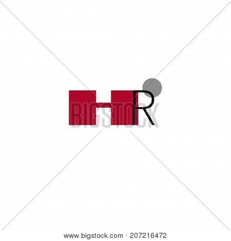 Logo icon human resources hr. Stock vector