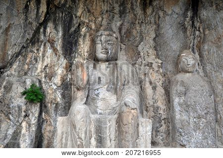 The Holes (with Buddha Statue Inside) -which Is More Than Thousands- Around Longmen Grottoes On The