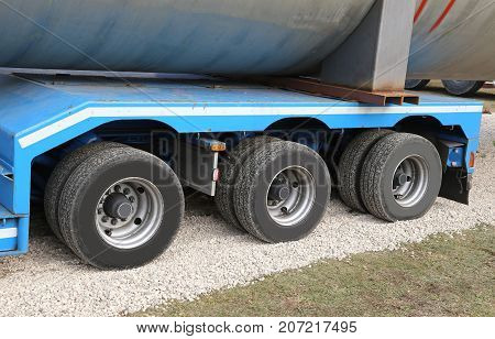 Lorry For Transport Of Heavy Goods With Two Couples Of Wheels