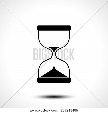 Sand hourglass icon isolated on white background. Vector illustration