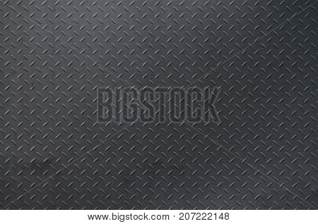 Metal Texture Background Aluminum Brushed Silver. Metal Floor Plate With Diamond Pattern. Grunge Bac