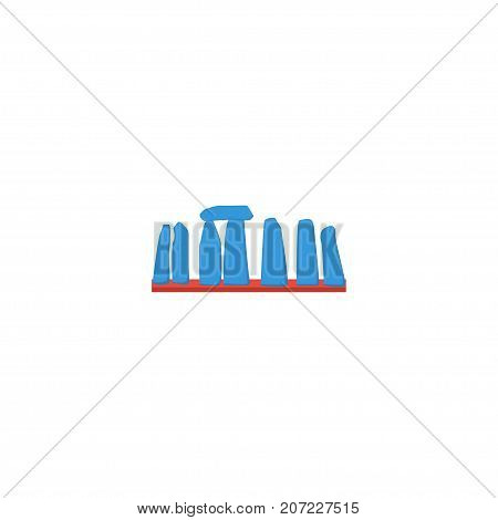 Flat Icon Stonehenge Element. Vector Illustration Of Flat Icon Prehistoric Britain Isolated On Clean Background