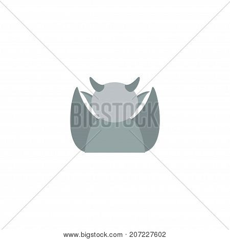 Flat Icon Gargoyle Element. Vector Illustration Of Flat Icon Evil Isolated On Clean Background