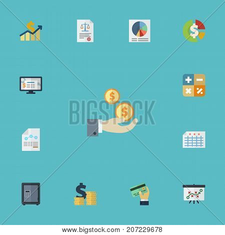 Flat Icons Paper, Tactics, Stock And Other Vector Elements
