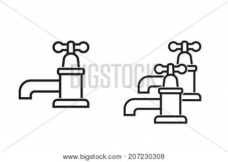 Faucet vector icon. Black illustration isolated on white background for graphic and web design.