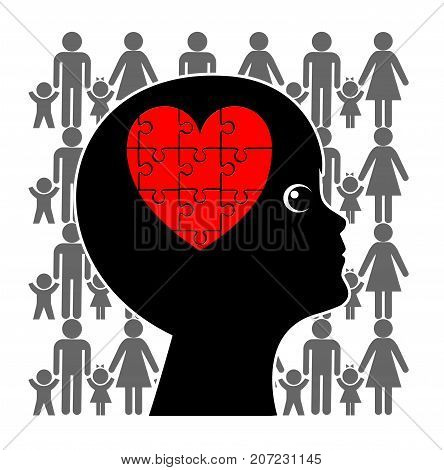 Love in a Blended Family. Child being loved by the stepfamily