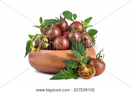 Tomatoes In Wooden Bowl