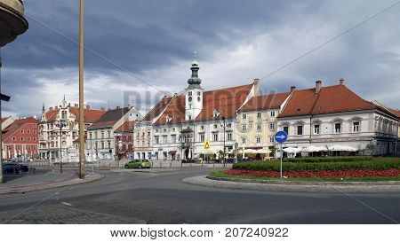 The main square of Maribor an architectural monument of the fourteenth century was called Market
