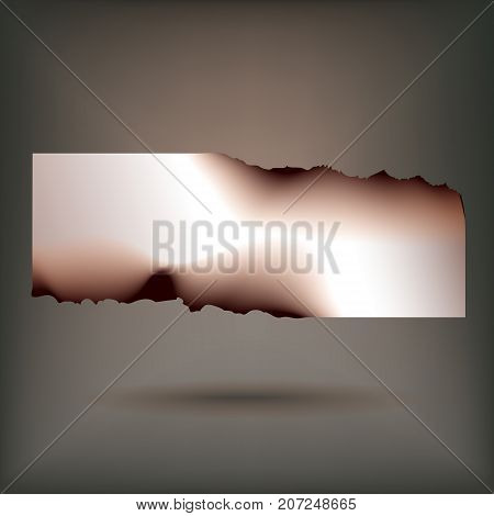 Fire burned strategic advertisement banner for customers attraction to seasonal discount sales abstract vector illustration