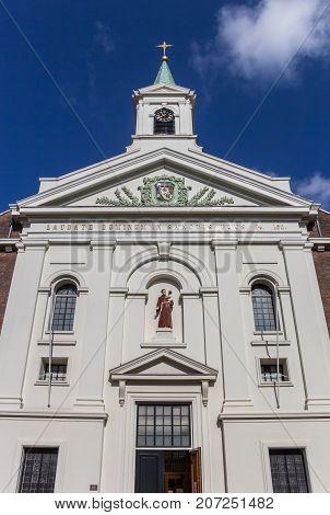 Facade Of The Groenmarktkerk Church In Haarlem