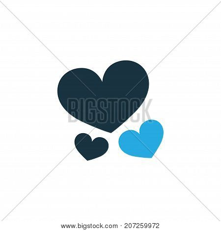 Premium Quality Isolated Soul Element In Trendy Style.  Heart Colorful Icon Symbol.