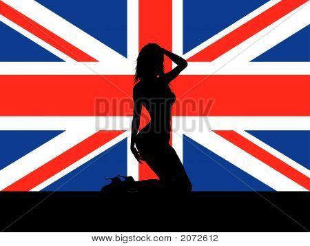 Female On Union Jack