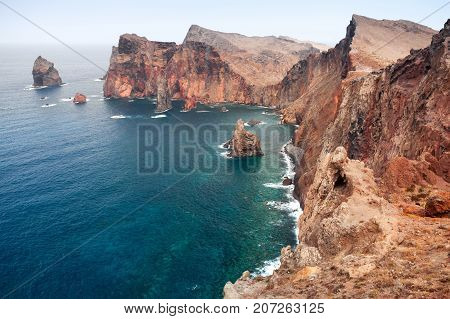 Landscape Of The Portuguese Island Of Madeira