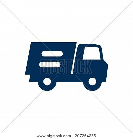 Vector Lorry Element In Trendy Style.  Isolated Truck Icon Symbol On Clean Background.