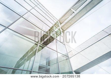 Modern Building Facade - Glass,steel, Concrete - Office Building Exterior