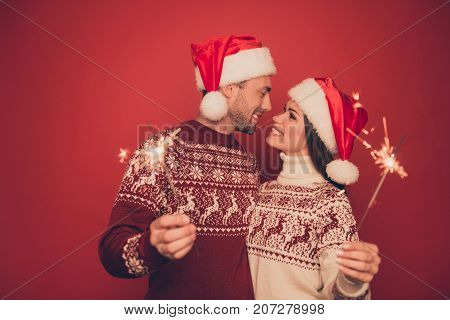 X Mas Miracle, Holy Spirit! True Feelings! Adorable, Lovely, Sensual Cute Friends In Knitted Cute Tr