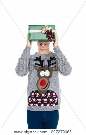 Man With Christmas Present