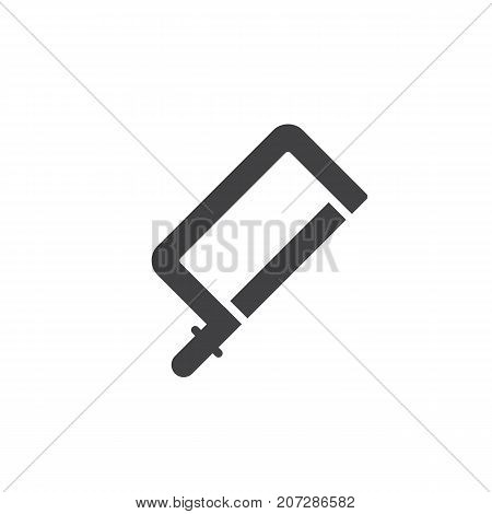 Jig saw icon vector, filled flat sign, solid pictogram isolated on white. Symbol, logo illustration.