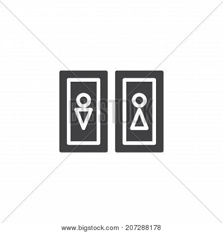 Restroom icon vector, filled flat sign, solid pictogram isolated on white. WC symbol, logo illustration.